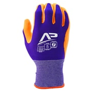 Apollo Package Handlers™ Express Glove, Touch Screen, Bamboo Knit With Gripping Dots, Small, Purple / Orange