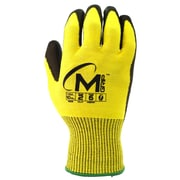 Apollo Miracle Grip™ Cut Protect Glove, ANSI 2 / A2, Touch Screen With Polyurethene Palm, 2XL, Yellow