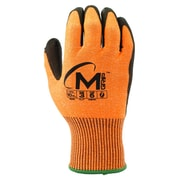 Apollo Miracle Grip™ Cut Protect Glove, ANSI 3 / A3, Touch Screen With Polyurethene Palm, Large, Orange
