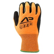 Apollo Tool Grabber™ Cut Protect Glove, ANSI 3 / A4, Touch Screen With Nitrile / PU Coating, Large, Orange