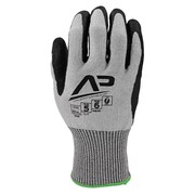 Apollo Tool Grabber™ Cut Protect Glove, ANSI 5 / A7, Touch Screen With Blue Nitrile Gripping Dots, Large, Grey