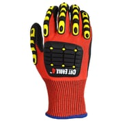 Apollo Cut Eagle™ 4, Cut Resistant Glove, ANSI 4 / A6, Touch Screen With Impact Protection, Nitrile PU Palm, Small, Red