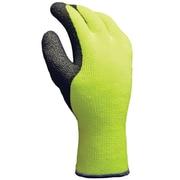 Thermal Acrylic Terry Gloves, Crinkle Latex Palm, X-Large, Hi Viz Yellow