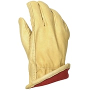 Leather Driver's Gloves, Pigskin, 40 gram Thinsulate® Red Fleece Liner, Keystone Thumb (5173)