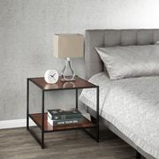 Zinus Set of Two 20 Inch Square Side Tables/Night Stands