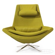 Kardiel Retropolitan Modern Wing Lounge Chair; Deco Moss