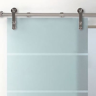 Belleze Modern Style Barn Glass Sliding Door Track Hardware WYF078279368822