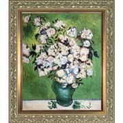 Tori Home 'Vase w/ Roses' by Vincent Van Gogh Framed Painting Print