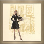 PicturePerfectInternational ''Black Trench Coat Barbie '' by Robert Best Framed Painting Print