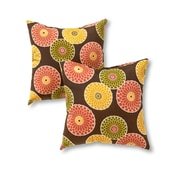 Greendale Home Fashions Throw Pillow (Set of 2); Chocolate