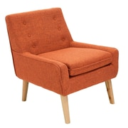 Home Loft Concepts Reese Tufted Fabric Retro Side Chair; Orange