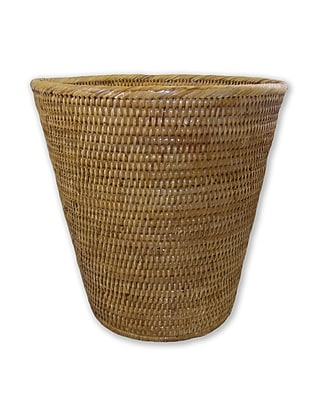 artifacts trading Rattan Round Taper Waste Basket