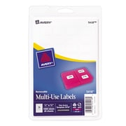 "Avery® 5418 Print-or-Write Multiuse ID Labels, 1/2""H x 3/4""L, 1,000/Pack (13936/5418)"