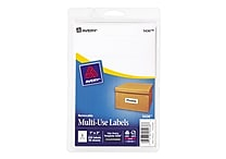 Avery® 5436 Print-or-Write Multiuse ID Labels, 1'H x 3'L, 250/Pack