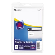 "Avery® 5440 Print-or-Write Multiuse ID Labels, 1-1/2""H x 3""L, 150/Pack"