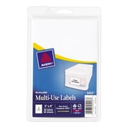 "Avery® 5453 Print-or-Write Multiuse ID Labels, 3""H x 4""L, 80/Pack"