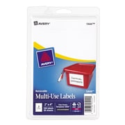 "Avery® 5444 Print-or-Write Multiuse ID Labels, 2""H x 4""L, 100/Pack"