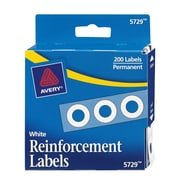 Avery White Hole Punch Reinforcements, White (5729)