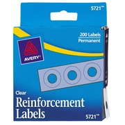 Avery Reinforcements for Hole-Punched Pages, Clear, 200/Pack