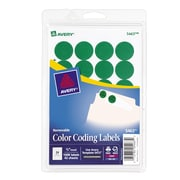"Avery® 5463 Round 3/4"" Diameter Print & Write Color Coding Labels, Green"
