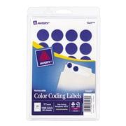 "Avery® 5469 Round 3/4"" Diameter Print & Write Color Coding Labels, Dark Blue"