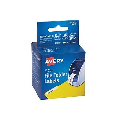 Avery(R) File Folder Labels for Dymo(R), Seiko(R) and Zebra Printers 4155, 9/16