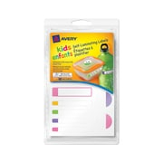 Avery® Self-Laminating Labels for Kids Gear, Bright Colors, Assorted Shapes and Sizes