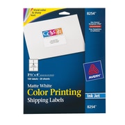 "Avery® 8254 Color Printing Matte White Inkjet Shipping Labels, 3-1/3"" x 4"", 120/Box"