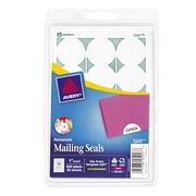 "Avery® Print-or-Write Mailing Seals 1"" Diameter White 600/Pack (13928/5247)"