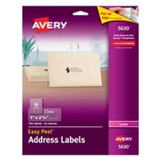 "Avery® 5630 Clear Laser Address Labels with Easy Peel®, 1"" X 2-5/8"", 750/Box"