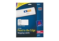 Avery® 6873 Color Printing Matte White Laser Shipping Labels, 2' x 3-3/4', 200/Box
