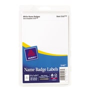 "Avery 5147 Printable Self-Adhesive Name Tag Label, White Border, 2 11/32""(W) x 3 3/8""(L)"