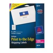 "Avery® 6874 Color Printing Matte White Laser Shipping Labels, 3"" X 3-3/4"", 150/Box"