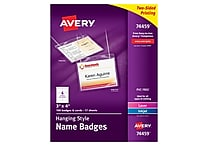 Avery 74459 Hanging Name Tags, 3' x 4', White