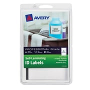 "Avery(R)  Self-Laminating ID Labels 00746, Handwrite, 3-3/4"" x 2-3/4"", Gray Border, Pack of 8"