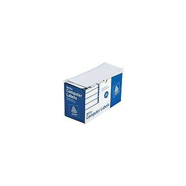 Avery® 4022 White Pin-Fed Computer Labels, 4