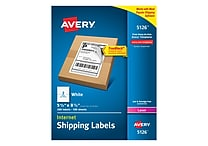 Avery Laser Internet Shipping Labels with TrueBlock™, 5-1/2' x 8-1/2', White, 200/Box (5126)
