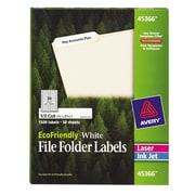 Avery® 45366 EcoFriendly White File Folder Labels, 1,500/Pack