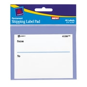 "Avery® To & From Shipping Label Pad, 2-5/8"" x 3-3/4"", 40/Pack"