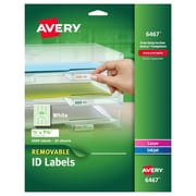 "Avery® 6467 Removable Inkjet/Laser Labels, 1/2"" x 1-3/4"", 2,000/Pack"