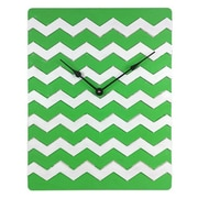 Cray Cray Supply Weathered Green & White Chevron Pattern Clock Large (CRYC101)
