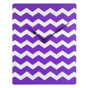 Cray Cray Supply Weathered Purple & White Chevron Pattern Clock Large (CRYC103)