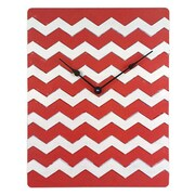 Cray Cray Supply Weathered Red & White Chevron Pattern Clock Large (CRYC104)