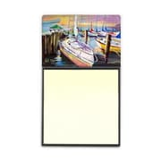 Carolines Treasures  Sailboats At The Fairhope Yacht Club Docks Sticky Note Holder (CRLT69095)