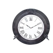 Handcrafted Decor  Oil Rubbed Bronze Deluxe Class Porthole Clock, 24 in. (HDFM2961)