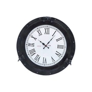Handcrafted Decor  Oil Rubbed Bronze Deluxe Class Porthole Clock, 20 in. (HDFM2962)