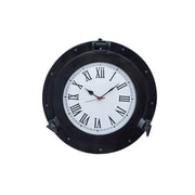 Handcrafted Decor  Oil Rubbed Bronze Deluxe Class Porthole Clock, 17 in. (HDFM2963)