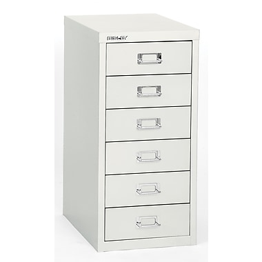 Bisley Six Drawer Steel Multidrawer, White, Letter/A4 (MD6-WH)