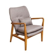Home Loft Concepts Isabella Accent Arm Chair; Grey