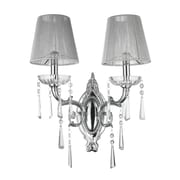 StarrySkyTradingInc. 2-Light Clear Crystal Wall Sconce